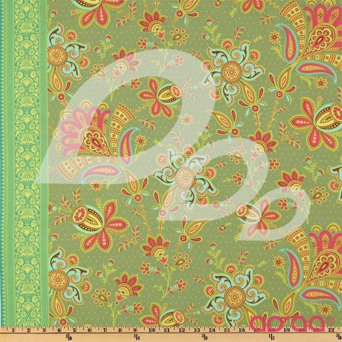 Passion Sari Blooms Moss