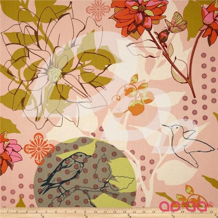 Hand Drawn Garden Sketchbook Pink
