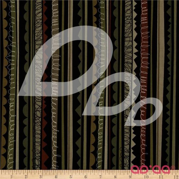 Kanvas 10,000 B.C. Jigsaw Stripe Olive