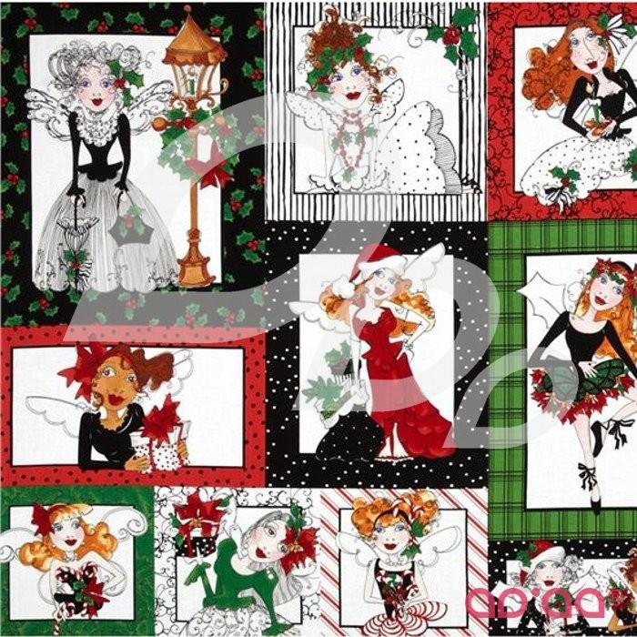 Loralie Fairy Merry Christmas Panel