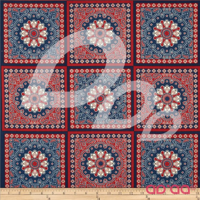 Star Spangled Bandana Cream/Red/Navy
