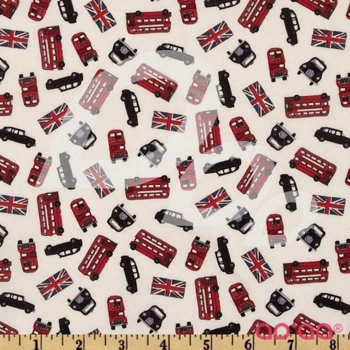 London Tossed Buses Cream/Multi