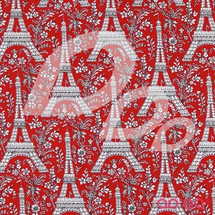 Rouge et Noir Eiffel Tower Red