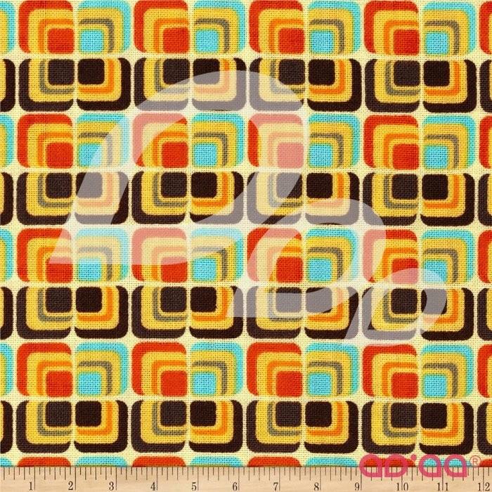 Riley Blake Unicorn & Rainbows Deco Orange