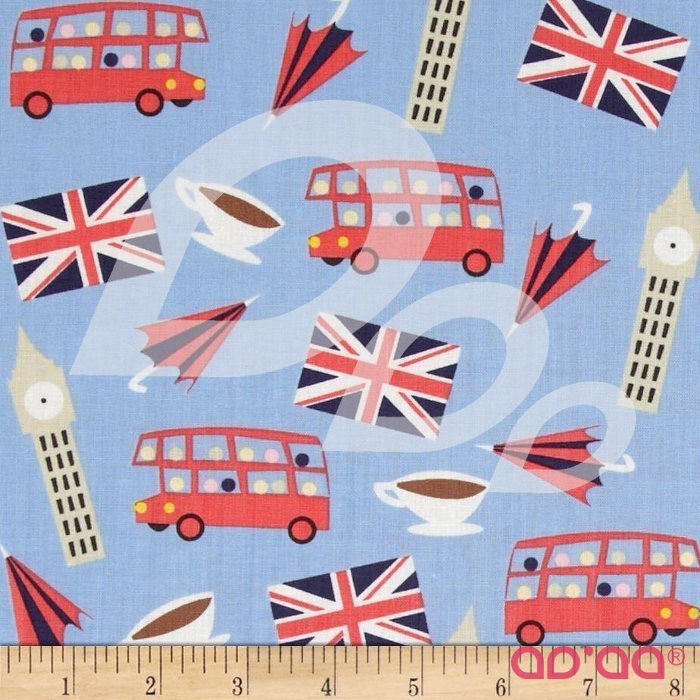 London Calling London Motifs Blue