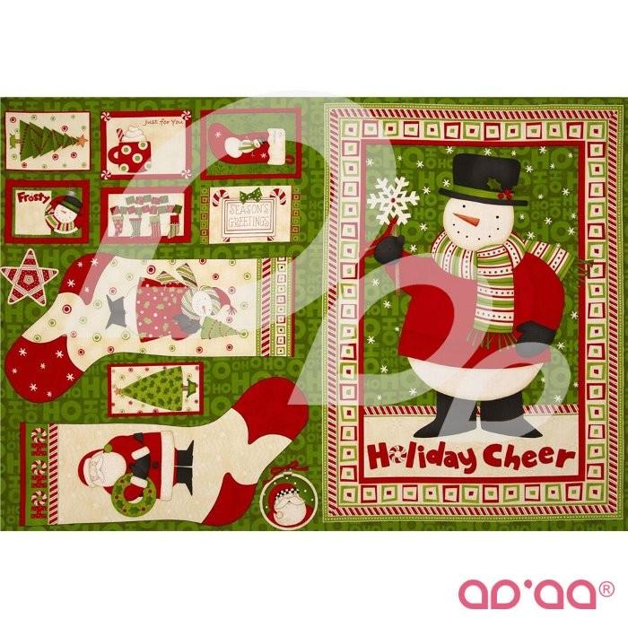 Ho Ho Holiday Panel Multi
