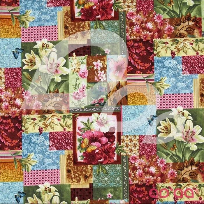 Flower Shop Floral Patchwork Scarlet
