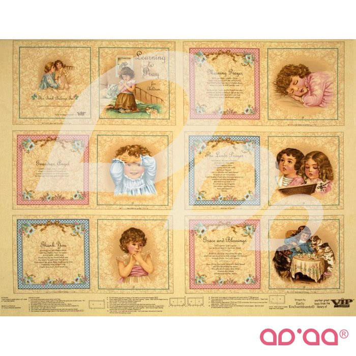 Learning to Pray for Children Soft Book Panel Cream