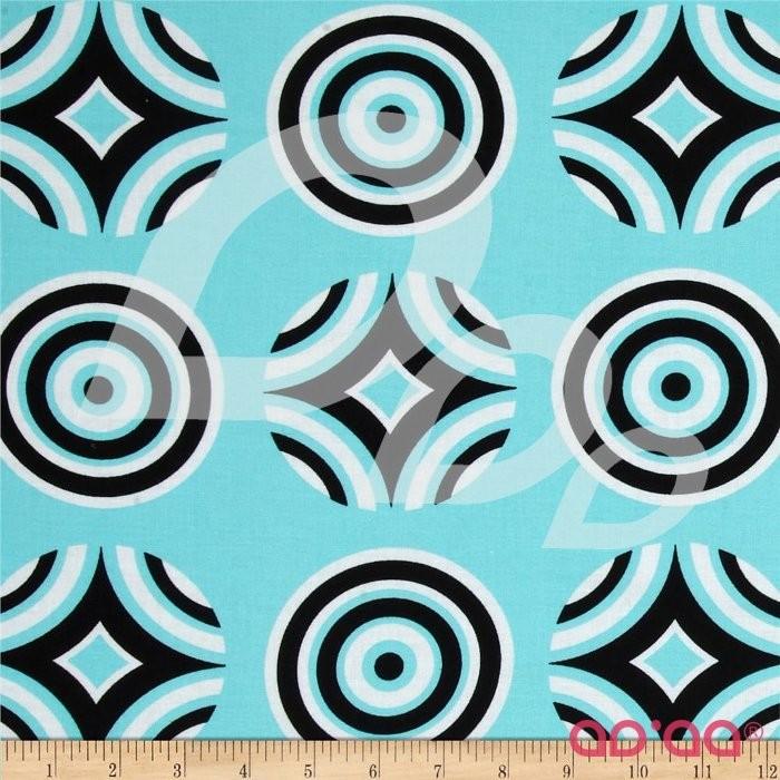 Kanvas Tiffany Collection Optic Coaster Aqua