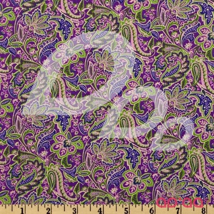 Floral Paisley Purple