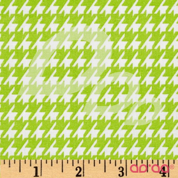 Dots and More Houndstooth Lime/White