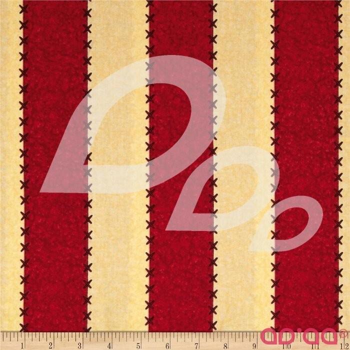 School House Fancies Bold Stripe Cream/Red