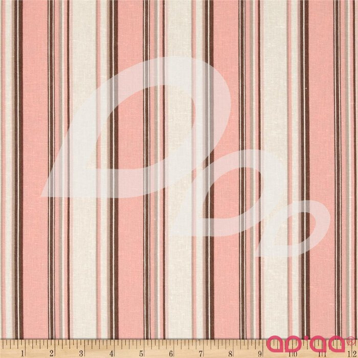 Linen/Cotton Blend Folly Stripe Coral Sand