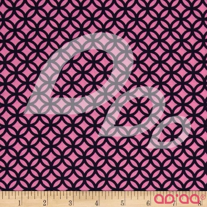 Kanvas Water Lily Trellis Navy/Pink