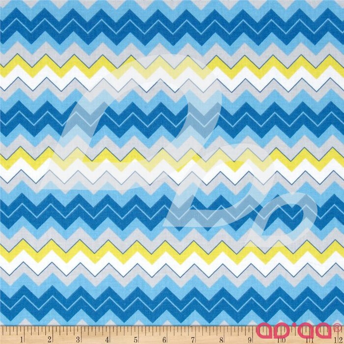 Calico Collection Chevron Blue/Yellow/White