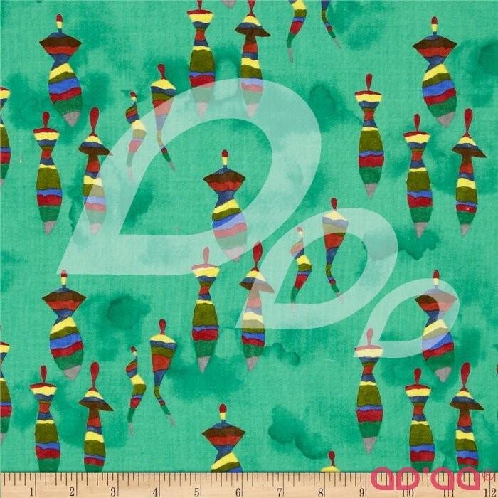 The Gathering Abstact Horizontal Miniature Tops Green