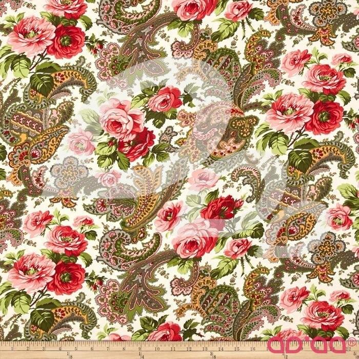 Verna Mosquera Indigo Rose Rose Paisley Vanil