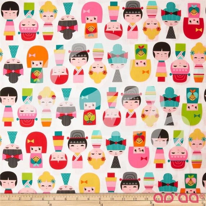 Kokeshi Dolls Rainbow