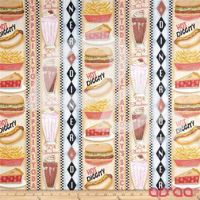 Good Eats Diner Vertical Stripe Multi