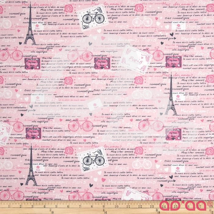 Timeless Treasures Paris Pink