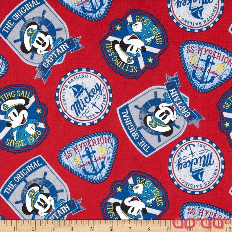 Disney Captain Mickey Badges Red