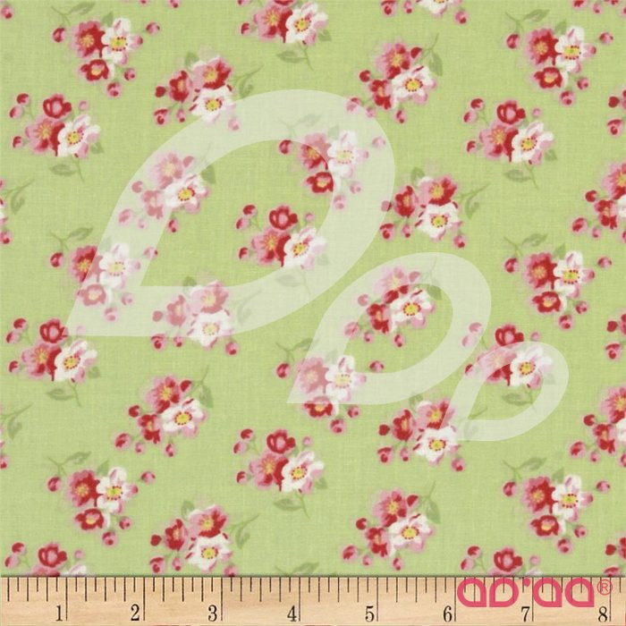 Rosey Cherry Blossom Green