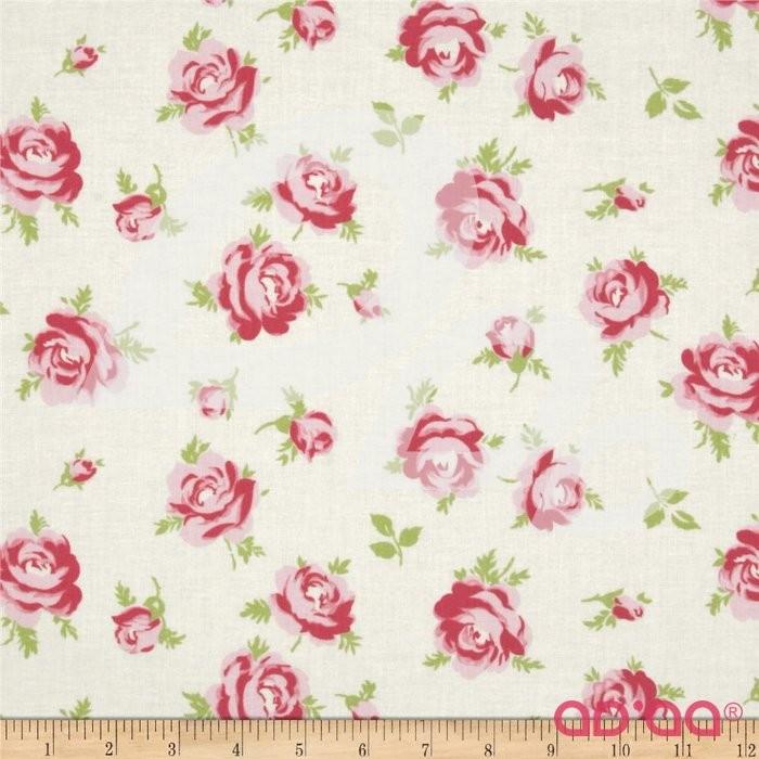 Rosey Little Roses Ivory