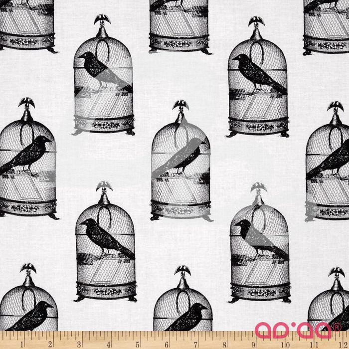 Nevermore Collection Jackdaws Urban Grit White