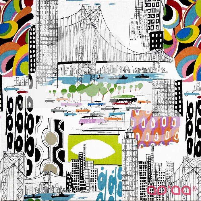 Nicoles Prints Urban Sprawl Natural Bright