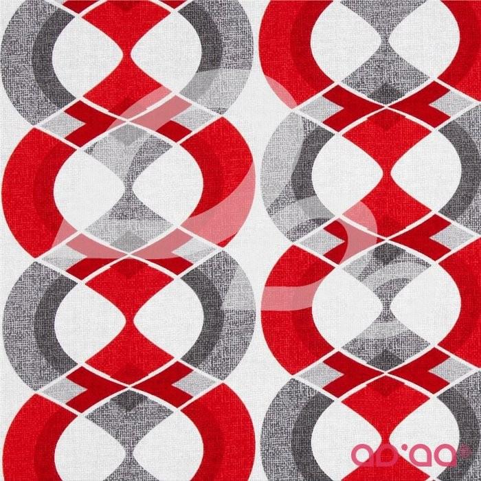 Mod Tex Geo Stripe Red