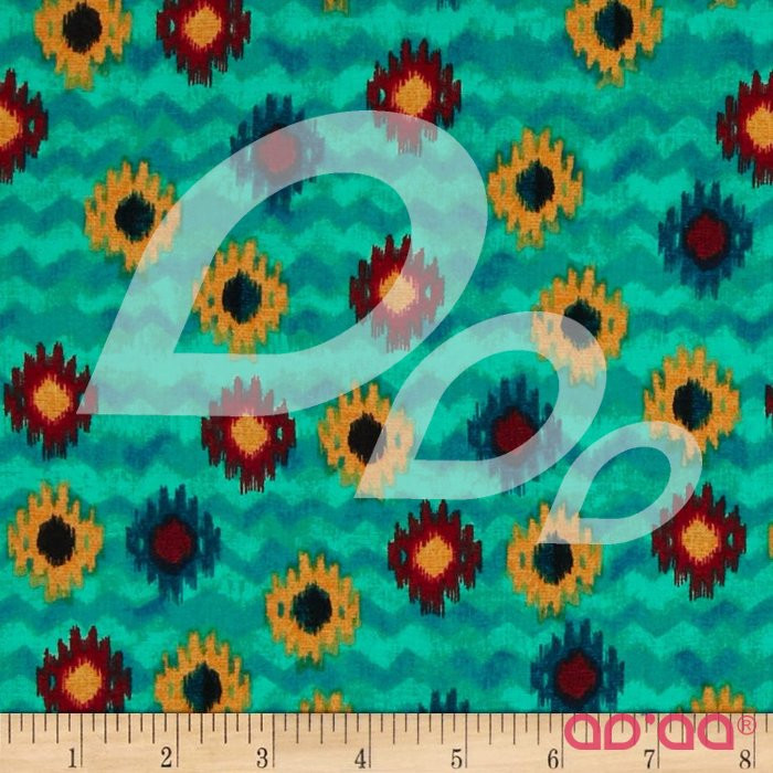 Small Ikat Turquoise