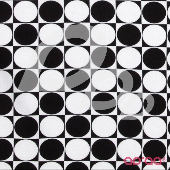 Kanvas Tiffany Collection Reflections Optic Dot Black/White