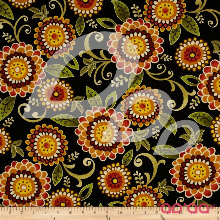 Zoe Main Floral Black