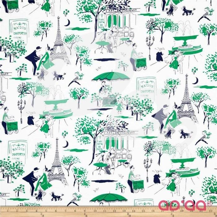 Paris Prepsters Gay Paree Green