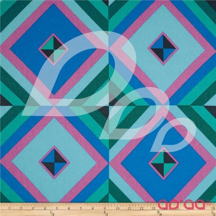 Hapi Linen Blend Sky Pyramid Cobalt