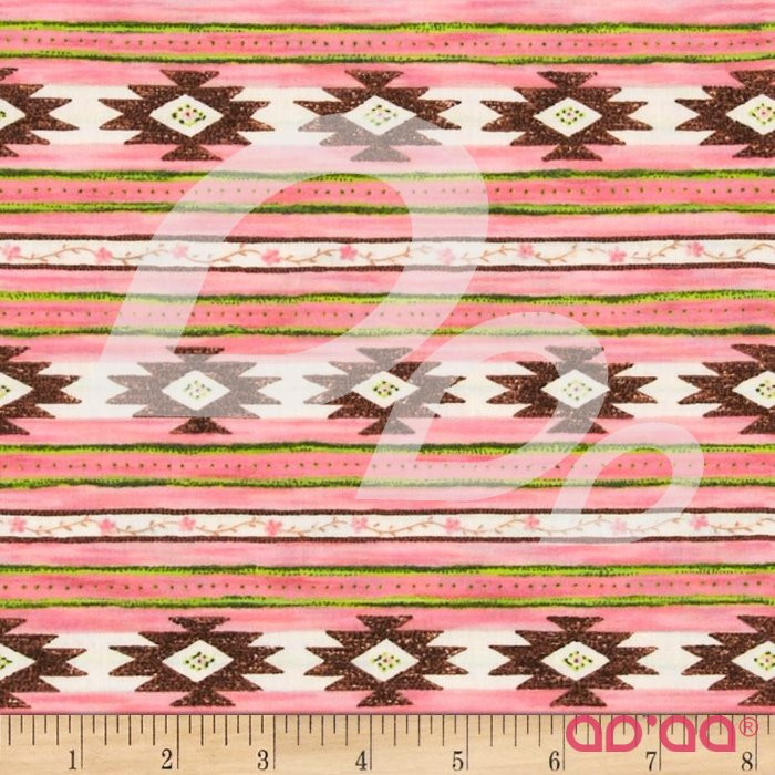 Roll Out the Barrel Aztec Stripe Pink