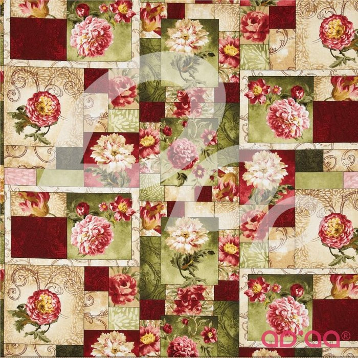 Natures Expressions Rose Patchwork Multi