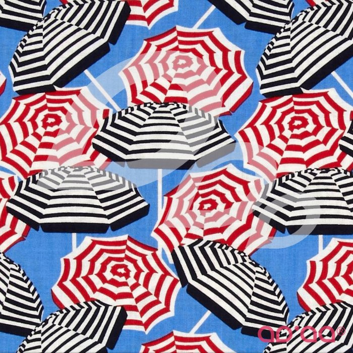 Cabana Umbrella Stripe Ultramarine/White
