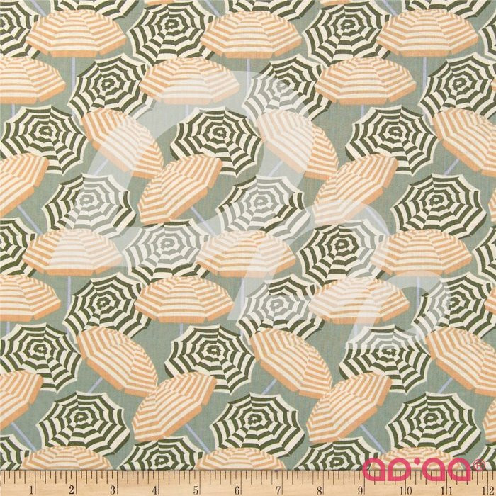 Cabana Umbrella Stripe Sage/Peach