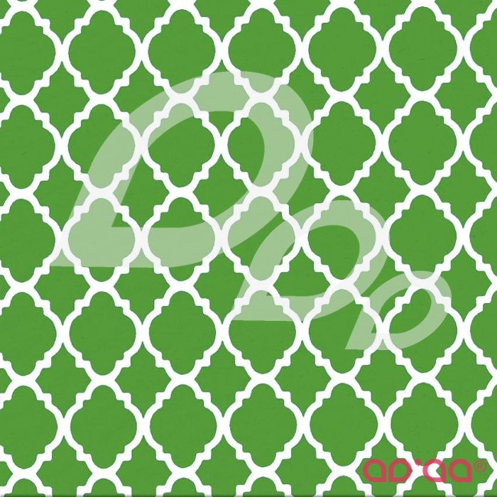 Quatrefoil Lime/White