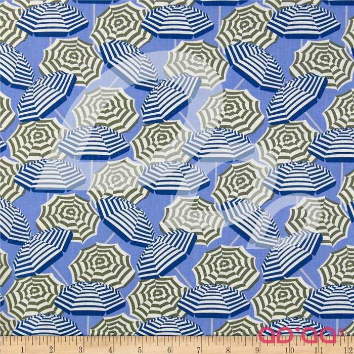 Cabana Umbrella Stripe Periwinkle