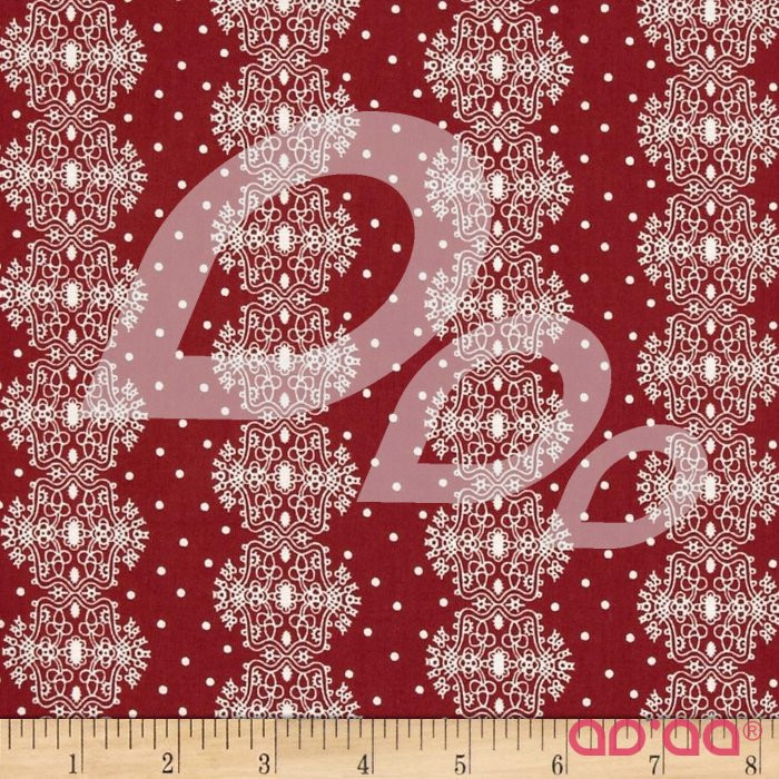 Make Do and Mend Lace Stripe Red