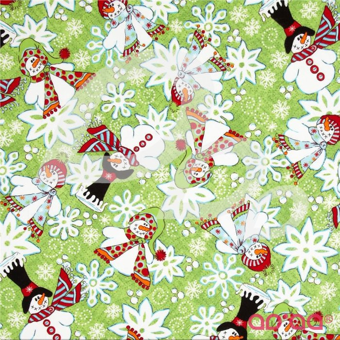 The Blizzard Bunch Snowmen and Snowflakes Green