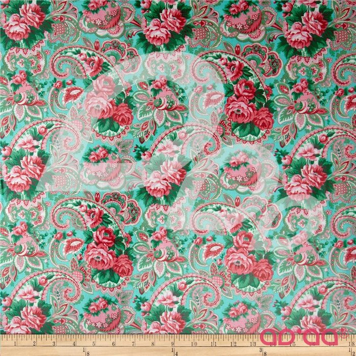 Veranda Rose Laminate Paisley Shade