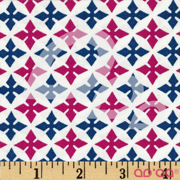 Dear Stella Geometric White/Pink/Blue