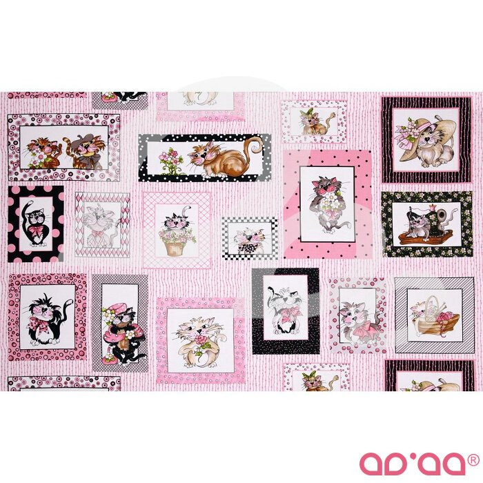 Loralie Fancy Cats Framed Cats Multi