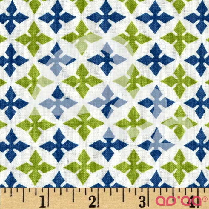 Dear Stella Geometric White/Lime/Blue