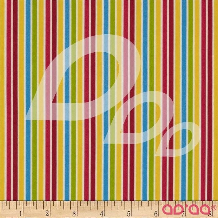 Pin Stripes White/Bright