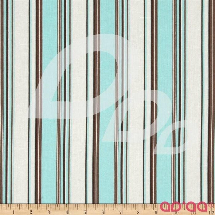 Linen/Cotton Blend Folly Stripe Tidal Pool