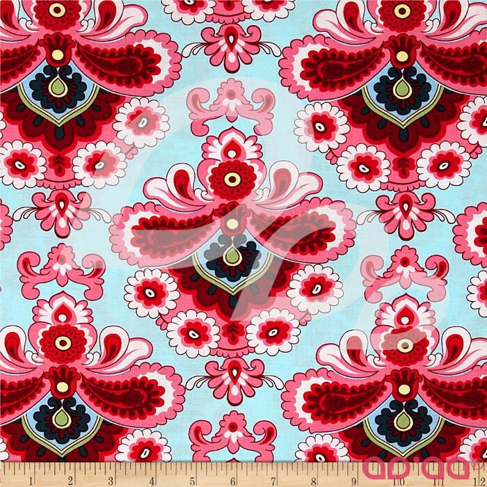 Amy Butler Belle French Wallpaper Duck Egg